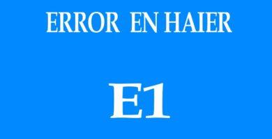 ERROR-E1