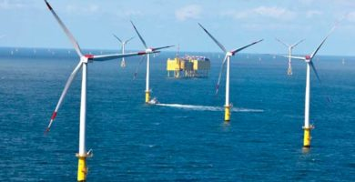Récord de generación de energía eólica establecio TnneT en el Mar del Norte